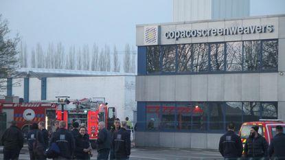 Vooral dakschade na brand bij Copaco Screenweavers