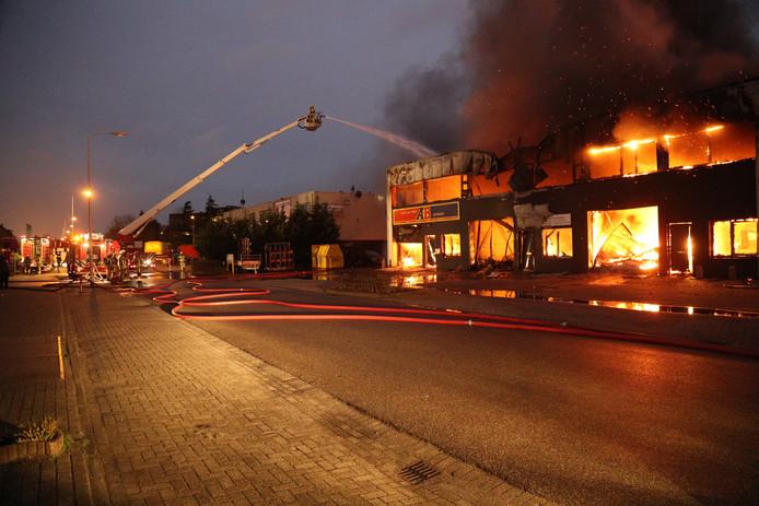 In december vorig jaar brandde een bedrijfsverzamelgebouw af op terrein De Boezem.
