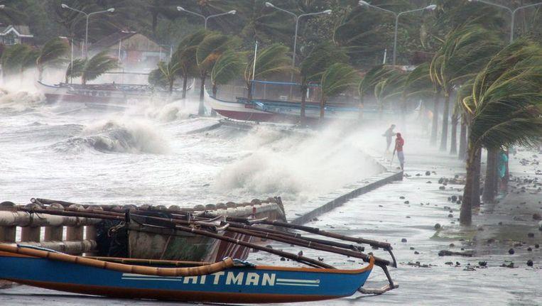 Haiyan is mogelijk de grootste storm die ooit over land heeft geraasd. Beeld afp
