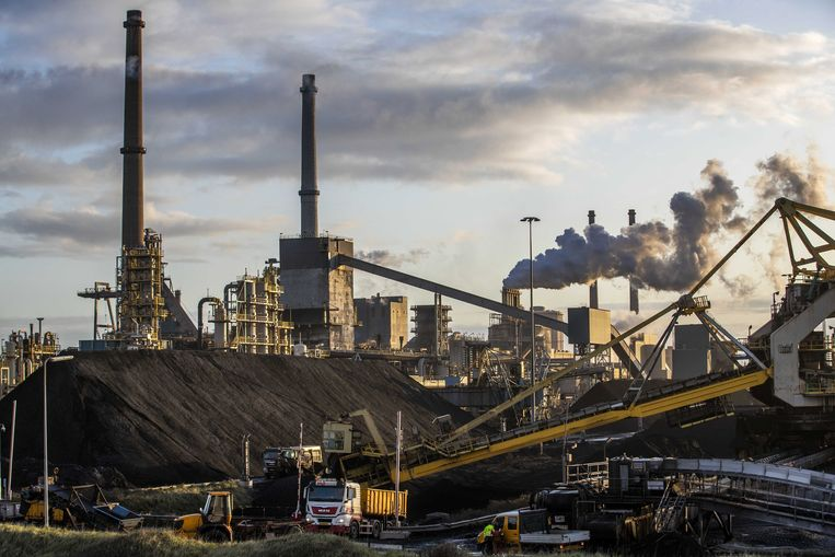Tata Steel in IJmuiden, Nederland.