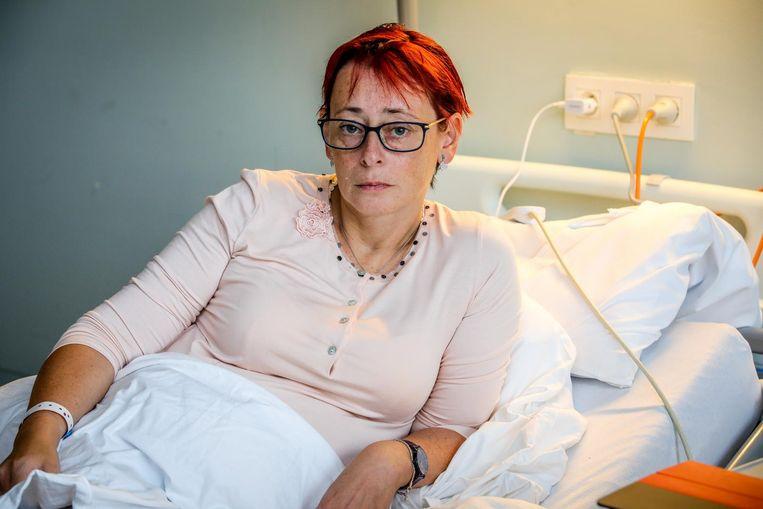 Anja Degraeuwe werd uiteindelijk in het AZ Damiaan in Oostende geopereerd.