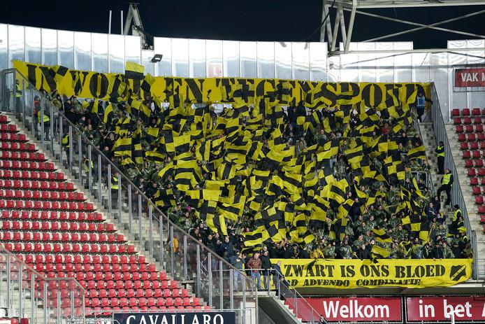NAC wordt ook in Leeuwarden gesteund door de Yellow Army.