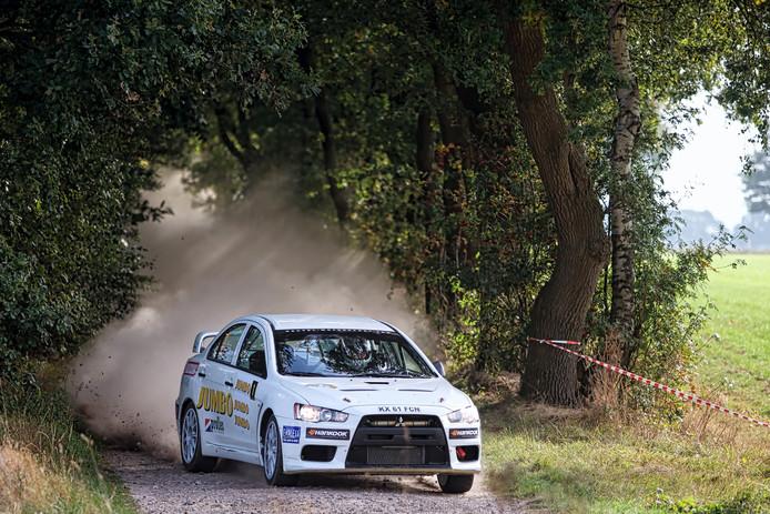 Jasper van den Heuvel, hier tijdens de proef bij Wouwse Plantage, won vorig jaar de GTC Rally.