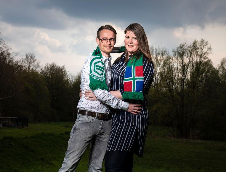 Laura Louissen Koopman ontmoette haar man Armand Louissen tijdens het feest op de Grote Markt na de bekerfinale en ze hebben nu een dochtertje Beeld reyer boxem