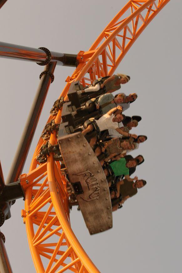 Fury, de nieuwste rollercoaster in Bobbejaanland met een topsnelheid van 106 kilometer per uur.