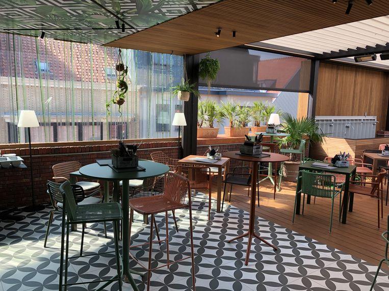 In Oostende is een nieuwe rooftopbar geopend