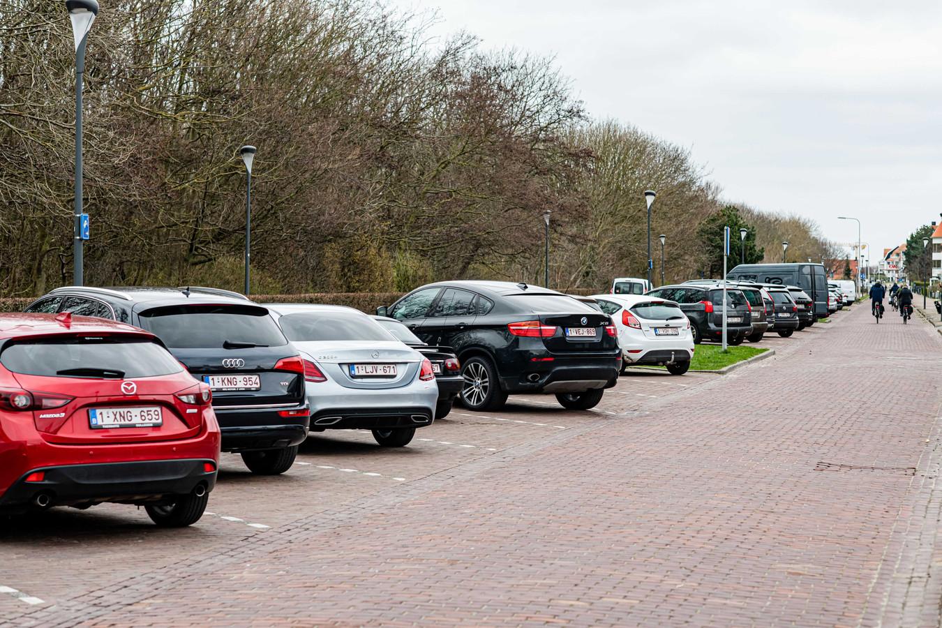Belgische auto's in de grensstreek.