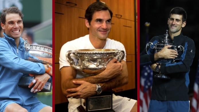 Nadal, Federer et Djokovic