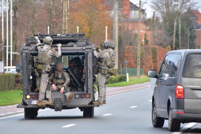 De speciale eenheden van de federale gerechtelijke politie gingen voorzichtig maar doordacht tewerk.