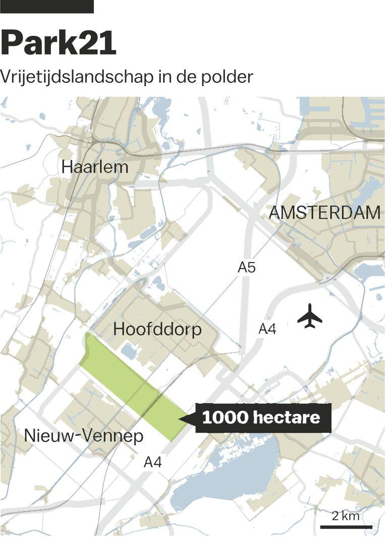 'Vanwege de aanvliegroute voor Schiphol konden niet zo heel veel met het gebied' Beeld Jorris Verboon