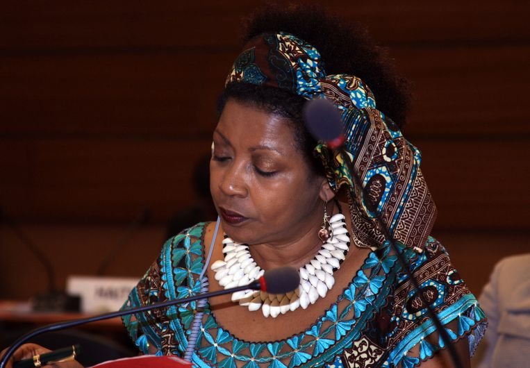 Verene Shepherd, voorzitter van de VN Working Group on People of African Descent. Deze werkgroep, die is ingesteld door de Mensenrechtenraad van de VN, doet onderzoek naar de Zwarte Piettraditie in Nederland. Beeld anp