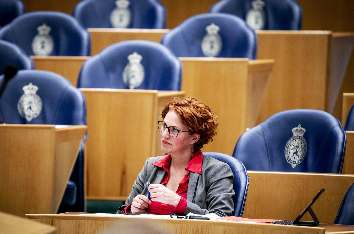 Kathalijne Buitenweg (GroenLinks) tijdens een debat in de Tweede Kamer.