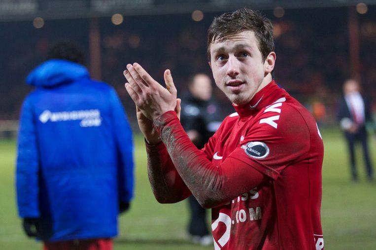 Brecht Dejaegere stond verkeerdelijk niet op het wedstrijdblad bij het duel van KV Kortrijk tegen Bergen in 2013.