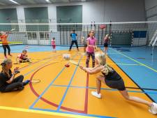 Bornse kinderen sporten binnen, en ook dat is leuk
