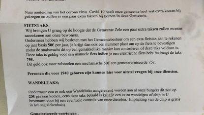 Gemeentebestuur waarschuwt voor oplichters die Zeelse 'wandel- en fietstaks' willen innen