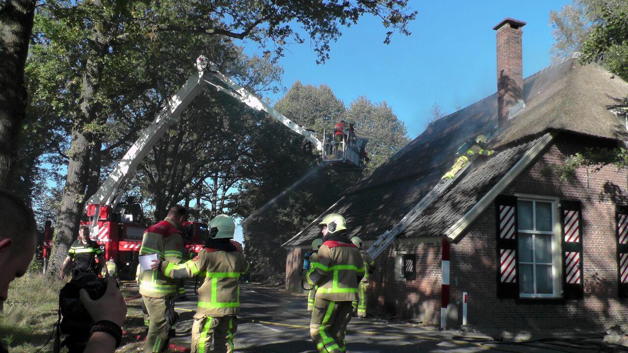 Woensdagmiddag ontstond er brand in een woning aan de Voorsterweg in Brummen.