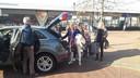 Britta, Irma, Francy en Corine worden naar Schiphol gebracht