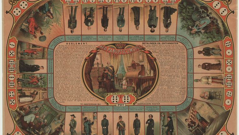 Een kinderspel uit het Panopticum, dat in 1882 in Amsterdam werd geopend. Beeld Foto Collectie Stadsarchief Amsterdam