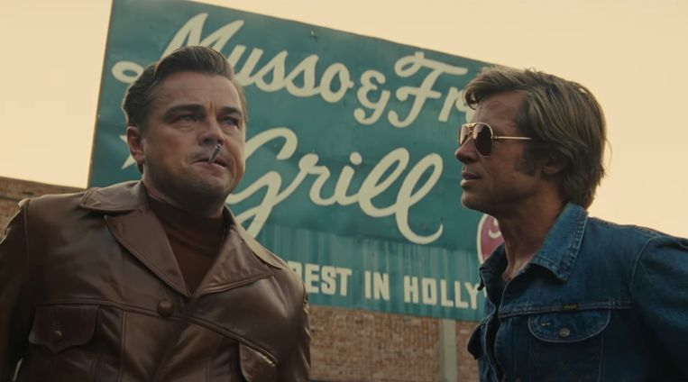 Leonardo DiCaprio en Brad Pitt in Once Upon a Time in... Hollywood Beeld