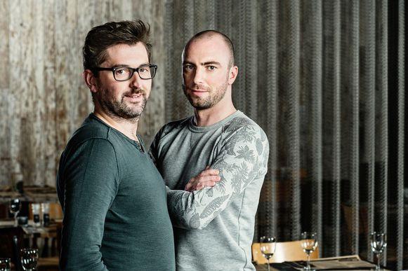 Birger Allary en Karel Knockaert tijdens een fotoshoot naar aanleiding van het deelname aan Mijn Pop-Uprestaurant in 2017.