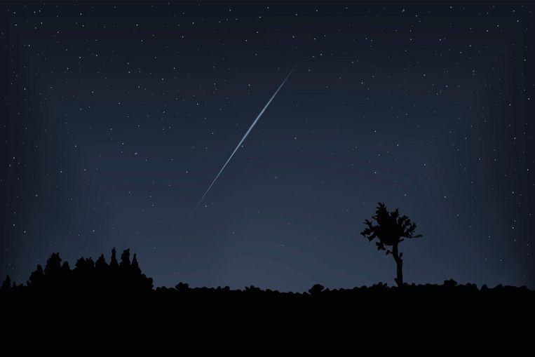 Ga op een donkere plek staan, ver weg van alle stadslicht, om een vallende ster te kunnen spotten.