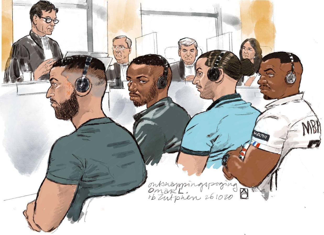 Bilal L., Alberic G., Foulet N. en Hatime O. uit Frankrijk worden ervan verdacht dat zij de tot levenslang veroordeelde Omar L. uit de PI Zutphen wilden bevrijden.