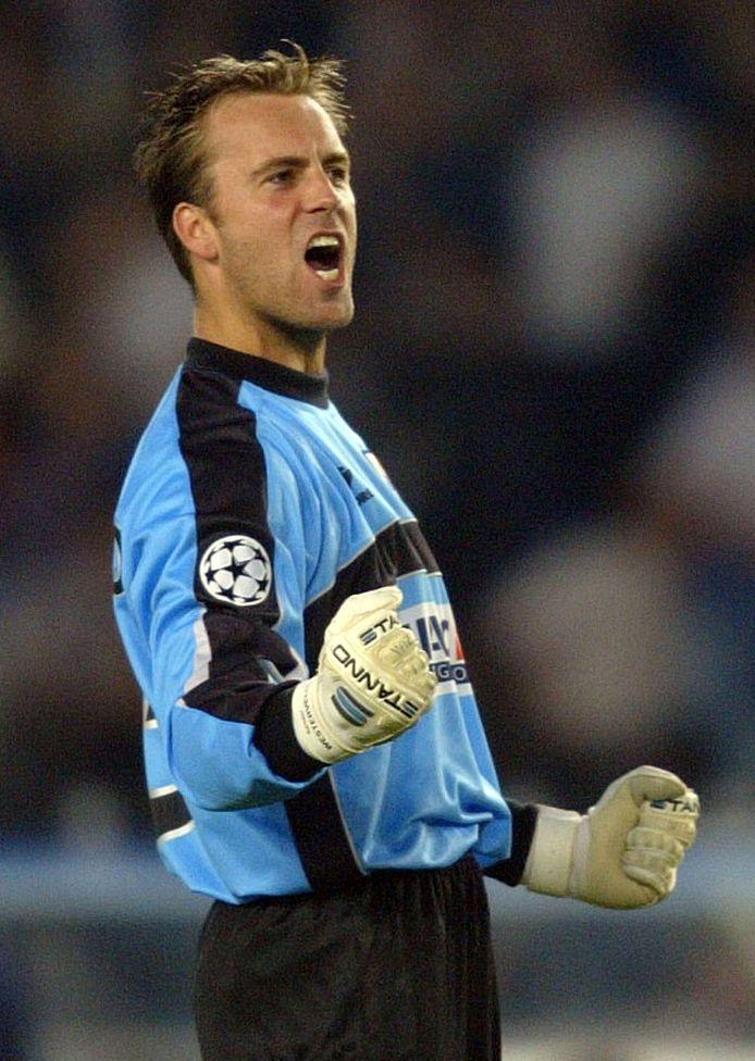 Sander Westerveld in 2003 als keeper van Real Sociedad.