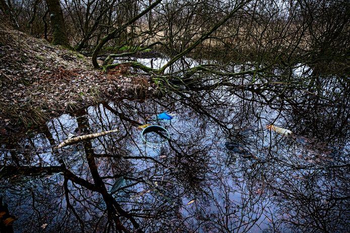 De voormalige vuilstort aan het Leegveld in Deurne