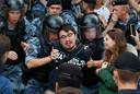 Ondanks waarschuwingen dat de demonstratie illegaal zou zijn, gingen actievoerders toch de straat op.