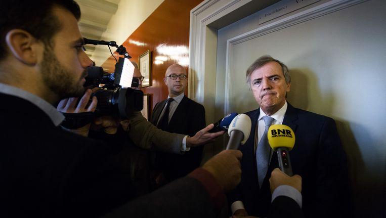 Senator Loek Hermans op het Binnenhof. Beeld anp