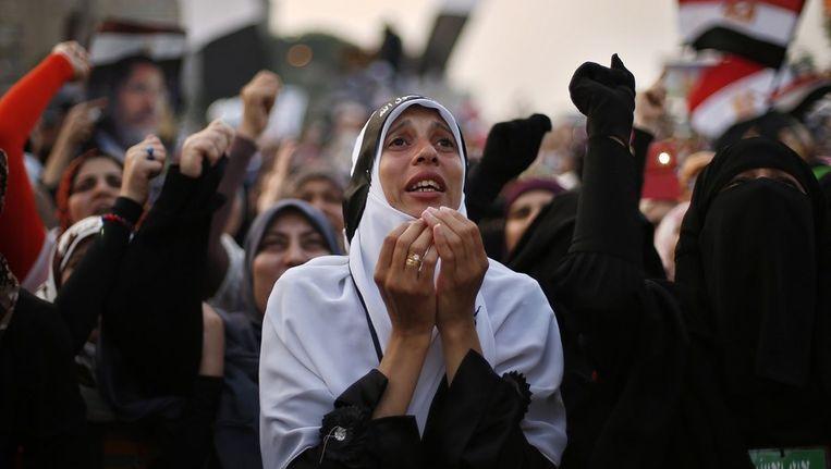 Aanhangers van de Moslim Broederschap. Beeld reuters