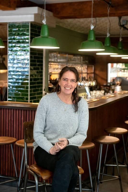 Wendo Kroon vorig jaar in haar Café Kroon. ,,Ik moet even kijken: wat willen we nu doen?''