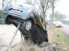 Bestuurster komt met de schrik vrij bij flink ongeval in Haarle