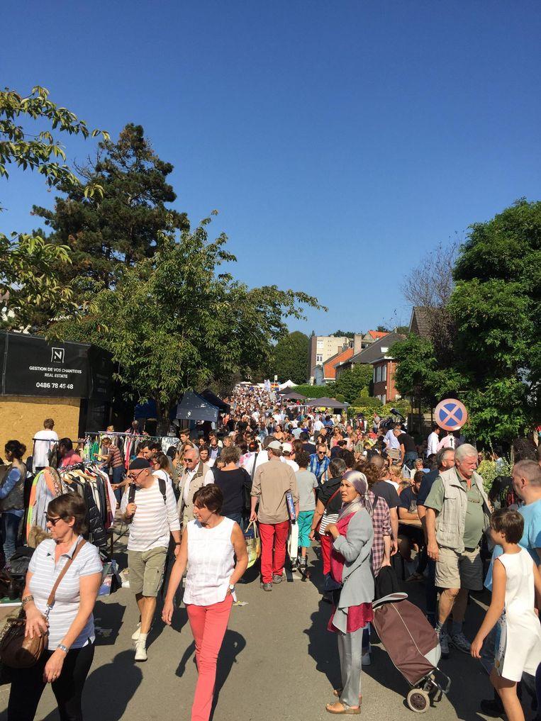 De rommelmarkt vorig jaar. Het evenement lokt gemakkelijk tienduizend bezoekers, en hun veiligheid is uiteraard een prioriteit.