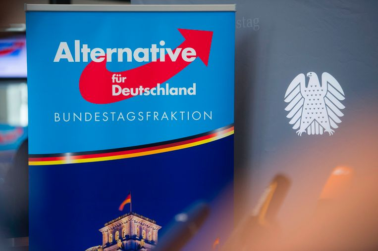 Het logo van de islamofobe partij Alternative für Deutschland