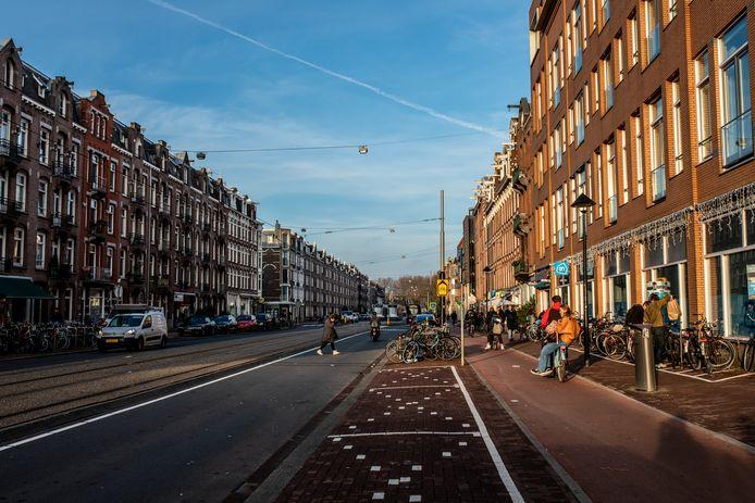 De Frederik Hendrikstraat zonder bomen (hier komt binnenkort verandering in).