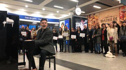 Koor houdt concert in Zuidstation tegen Brexit