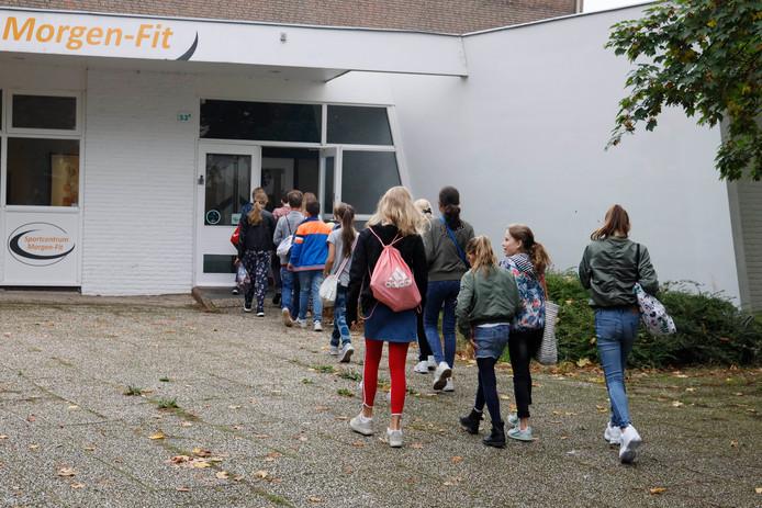 Ook basisschool Ooij maakt gebruik van de inmiddels verkochte sportzaal in Ooij.