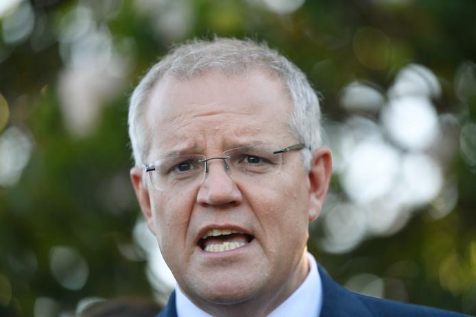 De Australische premier Scott Morrison.