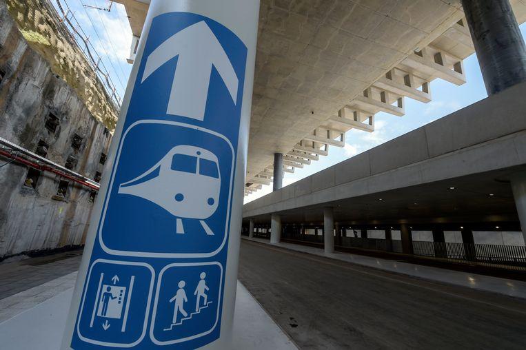 De nieuwe ondergrondse parking bij station van Mechelen.