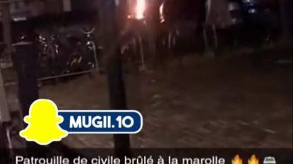 Politiewagen in brand gestoken in Brusselse centrumwijk Marollen