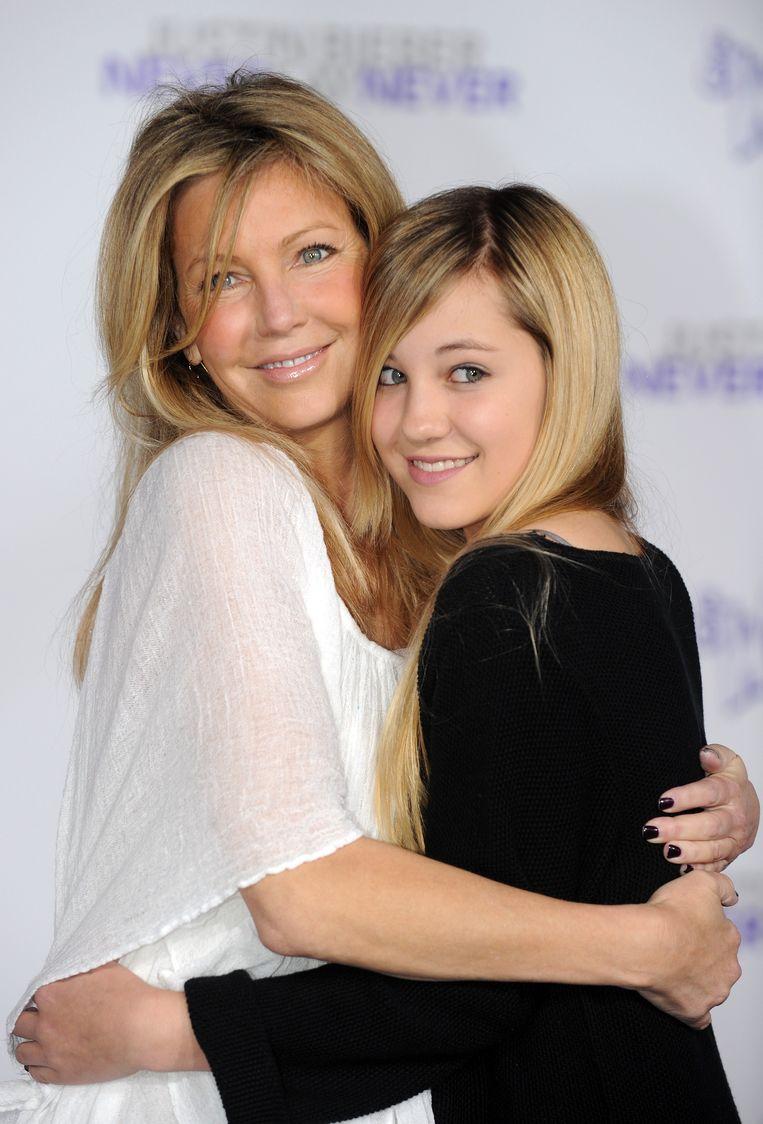 Actress Heather Locklear en haar dochter, Ava Sambora in 2011.