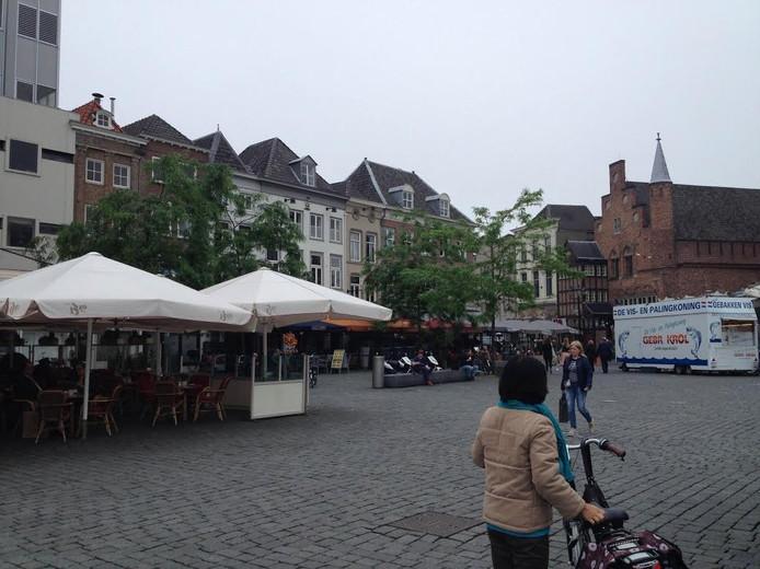 Schaamgroen op de Markt in Den Bosch