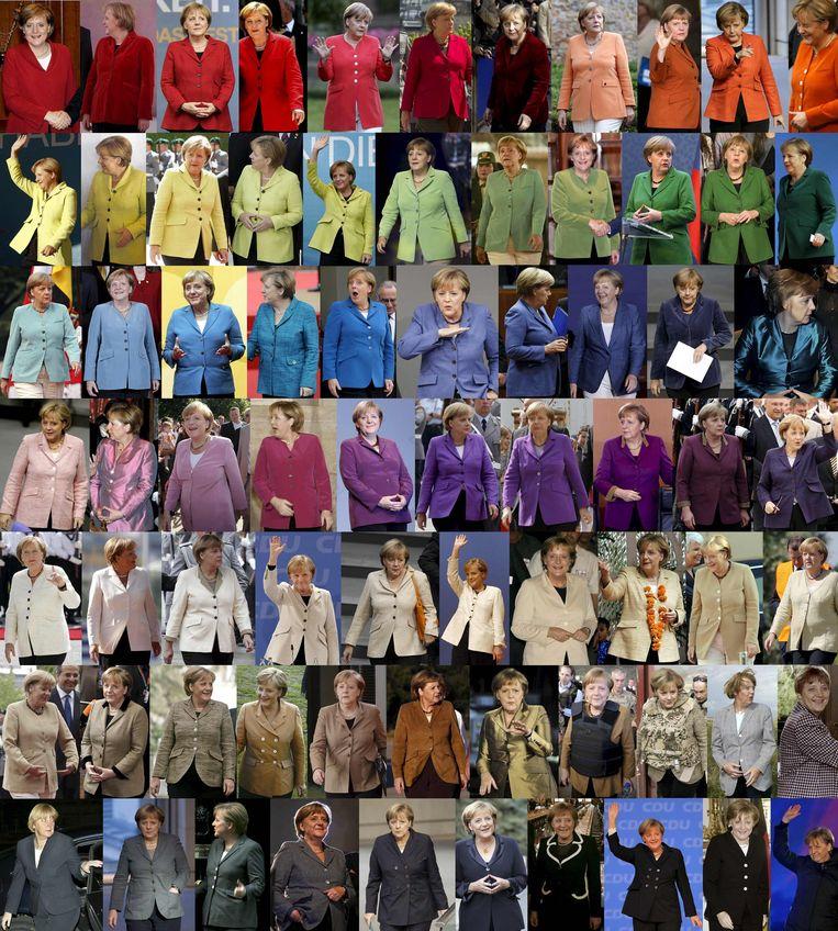 De Merkel-regenboog. Beeld Reuters