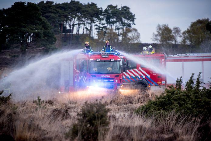 Bestrijding natuurbrand bosbrand Veluwe