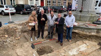 Stuk van Sint-Janskerk komt boven tijdens werken op Sint-Jansplein