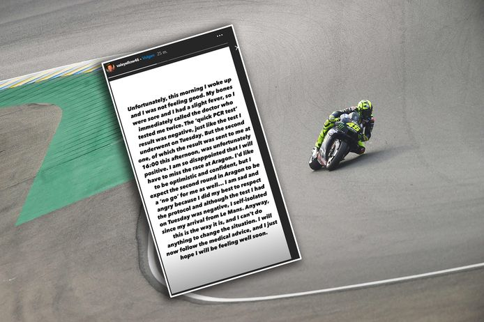 Valentino Rossi. Inzet: zijn verklaring op zijn Instastory.