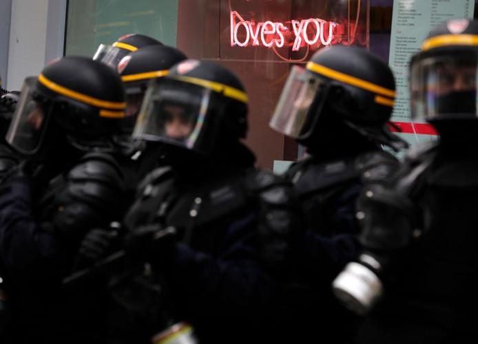 In totaal waren woensdag zo'n 40.000 demonstranten in Parijs de straat op gegaan