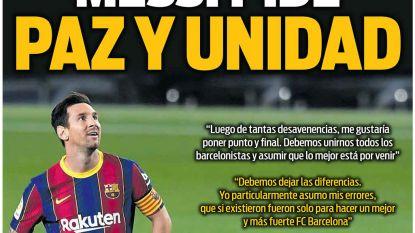 """Messi kijkt ook in de spiegel: """"Als ik fouten heb gemaakt, dan waren die enkel bedoeld om Barça sterker te maken"""""""