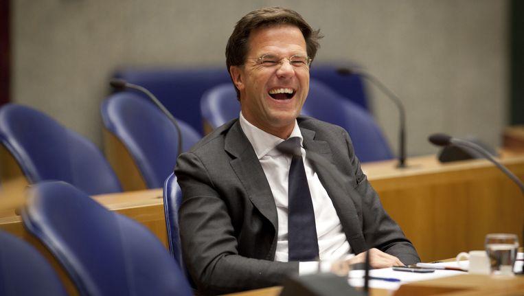 Premier Rutte vandaag in de Tweede Kamer. Beeld anp